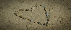 Sandy Heart (Ludvius) Tags: love beach norway stone sand heart valentine ludovicophotography wwwludovicophotocom