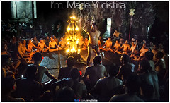 Goa Gajah Kecak (Bali Based Freelance Photographer and Photo Stocks) Tags: people bali rain night canon indonesia fire photo stock culture joystick made problem event proof procession dip orang goagajah adat budaya balinese 6d kecak yudistira myudistira madeyudistira notweather