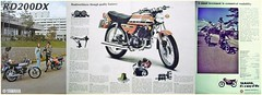 YAMAHA RD200 BROCHURE (Rickster G) Tags: pictures two classic vintage 1974 photo photos album picture motorcycles stroke images oldschool photographs 350 photograph 400 200 1975 motorcycle yamaha 70s 1978 collectible 500 collectors lc 1977 sales 1980 brochure 1979 rare spec 1976 rd 250 prestige yds twinshock vjm spec1973