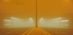 DSC_6872 (Mohamad Alodaima photography) Tags: road street light night wind sandstorm tunel doha qatar قطر عاصفة رملية malodaima