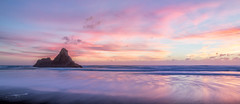 Karekare Beach at Dusk (Geoff Billing) Tags: sunset newzealand seascape beach canon landscape is dusk auckland usm ef karekare f4l 24105mm karekarebeach