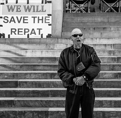 we will save the repat (Mike Flynn Adelaide) Tags: street blackandwhite bw protest streetphotography adelaide australianstreetphotography adelaidestreetphotography adelaideparliamenthouse