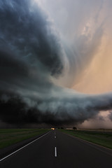 """Enter the beast"" (Mike Mezeul II Photography) Tags: road sunset sky weather clouds nikon texas extreme atmosphere chase thunderstorm tornado epic severe floydada supercell"