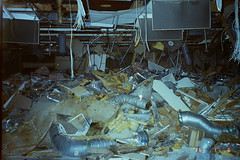 41 (POLO_REDBULL) Tags: seattle urban abandoned film broken 35mm ceiling urbanexploration exploration eastlake asbestos grimey flicks bando