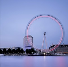 Spinning (EXPLORE 19.05.2016) (Fern Blacker) Tags: city longexposure travel blue motion london eye water square capital londoneye appicoftheweek