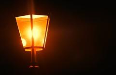light on the rocks (tobiaspriwall) Tags: light lamp yellow night nikon streetlamp d5200