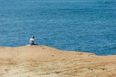 Woman Reading on Sand (pseudonoise) Tags: sandiego sunsetcliffs