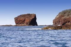 Coast of Lanai (rschnaible) Tags: ocean sea usa seascape water point landscape hawaii coast us pacific rocky cliffs coastal tropical tropics rugged lanai palaoa