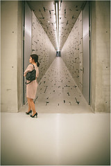 Opportunity missed (Singflow) Tags: light woman girl museum architecture female bag austria costume high infinity perspective indoor skirt carinthia heels available liaunig