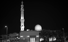 Al-Barsha Mosque (EHA73) Tags: leica nightphotography bw monochrome blackwhite dubai uae mosque summiluxm11450asph leicamm typ246