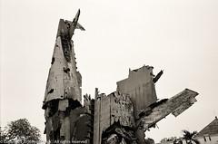 Crashed and burned @ Hanoi Army Museum (Pexpix) Tags: bw blackandwhite digitizedfilmnegative dotwellphotoworkshop film film1604 ilfordxp2 leica35mmsummicronmf2asph leicampsilver monochrome hanoi hni vietnam