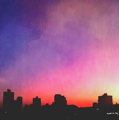 Pr do Sol (rvcroffi) Tags: city sunset pordosol cidade colors buildings cores colorful cityscape prdios entardecer cucolorido colorido degrade santoandr colorfulsky mextures