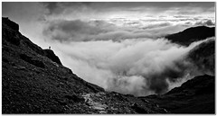 Walking with angels (Hugh Stanton) Tags: cloud mountain walker inversion treking appickoftheweek