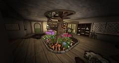 Mushroom Stairway Garden! (Ima Peccable) Tags: gardens staircase secondlife decorating hobbits shire tolkien innovativedecoratingsecondliferegiontheshiresecondlifeparceltheshireahomelysliceofmiddleearthsecondlifex114secondlifey127secondlifez26
