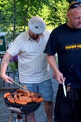 Barbecue bros (ErikLevin) Tags: people food sausage meat barbecue