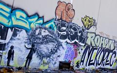 Bandit Wreckage of War3 (Brett Landrum) Tags: california street urban streetart abstract art abandoned canon photography graffiti photo losangeles los stencil angeles abstractart spray urbanart abandonedhouse spraypaint bandit vernon stencilart dtla graffitiart sprayart canon7d banditstreetart banditart