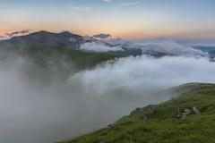 'Shrouded Peaks' - Moel Eilio, Snowdonia (Kristofer Williams) Tags: cloud mist mountain mountains weather wales landscape evening dusk peak snowdon summit snowdonia cloudscape moeleilio