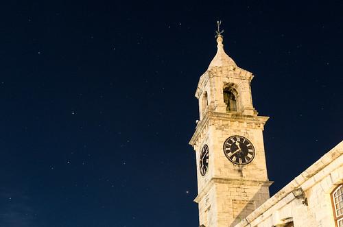Clocktower at night