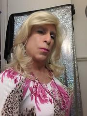 Pink so pensive   (bevhills2) Tags: pink kiss tgurl tgirl lipstick tranny trans sexy kissme