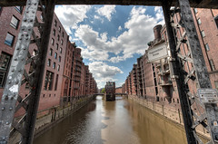Wasserschloss (Esther Seijmonsbergen) Tags: building history germany deutschland hamburg warehousedistrict hdr speicherstadt hafencity wasserschloss listedbuildings 5xp poggenmhlenbrcke estherseijmonsbergen poggenmuehlenbridge