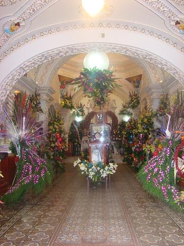 Interior del Templo de San Bernabé Temoxtitla, Sta. Clara Ocoyucan, Pue.