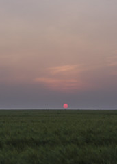 Red Orb Glow (JodBart) Tags: winstanley billinge fields wheat sunset sky
