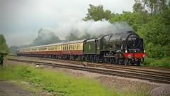 46100 (J @BRX) Tags: uk england train nikon br yorkshire steam locomotive charter 460 britishrailways royalscot mirfield 46100 brunswickgreen mainlinesteam d5100 royalscotclass heatonjunction londonmidlandscottishlms