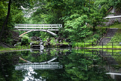 Happy Friday to all (LorenzMao) Tags: bridge canada water pond montral quebec montreal woodbridge waterreflection stairways parcjeandrapeau whitebridge httpwwwlorenzmaophotographycom