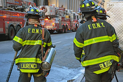 Pictures Of NYFD Firefighters On The Scene Of A Call In New York City. Photo Taken Tuesday January 13, 2015 (ses7) Tags: new york city fire department of