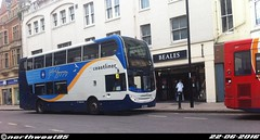 15982 (northwest85) Tags: street west bus worthing south 400 alexander dennis pulse 700 stagecoach scania enviro adl durrington 15982 coastliner sxj yn64xsj yn64