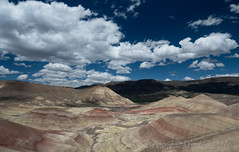 Painted Hills, John Day Fossil Beds Natl Monument (Cropped) (Edward Mitchell) Tags: fossil fossils johnday oregon paintedhills clouds johndayfossilbeds nationalmonument