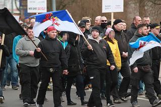 Asylproteste Torgelow und Gegenaktionen