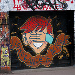 """Ignorance is bliss"" mural<a href=""http://www.flickr.com/photos/28211982@N07/16144974773/"" target=""_blank"">View on Flickr</a>"