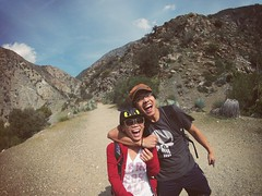 Bridge To Nowhere trail (ThuGiang Le) Tags: california friends mountain fun dangerous time hiking hike trail hero lapse ginny bridgetonowhere gopro ginnyle hero2