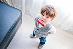 No. 2 Ready for Church (superduperwesman) Tags: toddler infant child tie style jeans bow vest stylish