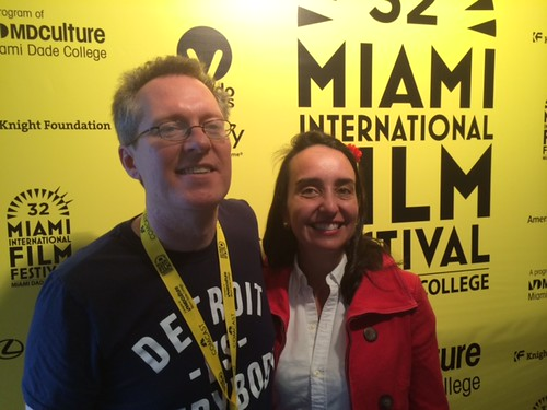Thom Powers and wife Raphaele Niehausen at the screening of Paco de Lucia at the Tower theater