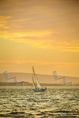 Sailing on the Solent (Paul Chambers Photography) Tags: uk sunset sea water landscape outdoors coast landscapes sailing seascapes yacht hampshire isleofwight newforest yachting leeonthesolent lepe traveldestinations closehauled