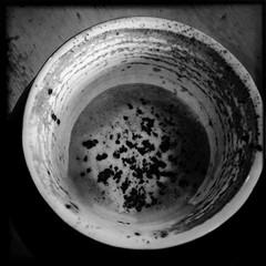 Spår i kaffegrut