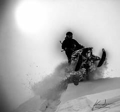 Sled B&W Re-edit 3 (special.k80731) Tags: blackandwhite bw alaska ak sled valdez thompson snowmobile polaris chugach snowmachine thompsonpass