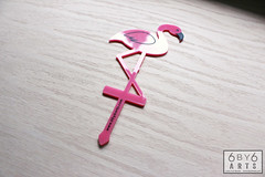 Pink Flamingo Indoor Plant Stakes (thea superstarr) Tags: pink plant acrylic flamingo indoor lasers decor pinkflamingos madeinusa lasercut indoorgarden laserengraved 6by6arts