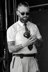 Archive #1 (Dirk Drijfhout) Tags: portrait people blackandwhite jazz podium portret tatto jazzfestival zw bartonphotography jazzfestivalenkhuizen
