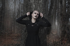 (martina.spoljaric1989) Tags: portrait woman girl fashion forest dark woods gothic goth fantasy expressive macabre