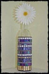Mosaic wine bottle (Meaco's Art Garden) Tags: glass artist wine mosaic winebottle vangogh glassart mosai bottleart mosaicart winebottleart mosaicartist mosaicbottle mosaicartis