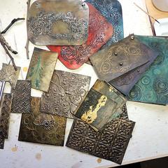 Pirate Treasure Chest Experimental Work (Samantha_Braund) Tags: sculpture art texture painting mixedmedia pirate treasurechest