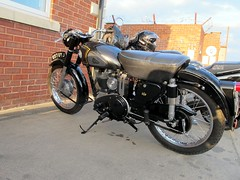 A.J.S 350cc (BSMK1SV) Tags: vintage diner pit stop motor stockton cycles ajs tees 2015 a66 350cc