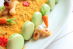 Easter Cake (·D.M·) Tags: food bunny cake easter sweet sugar homemade marzipan redcurrant macarons advocat