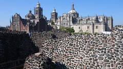 Templo Mayor with view of cathedral