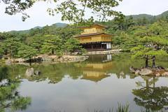 The Lake of the Golden Temple (Alison Claire~) Tags: lake building green castle nature water beautiful japan canon temple eos rebel gold golden kyoto 金閣寺 kinkakuji 600d kinkakujii