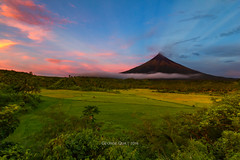 Rose Gold (georgekb81) Tags: travel pink sunset sea rose clouds wow volcano skies philippines mayon ph bicol albay magayon daragang