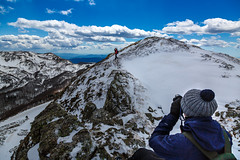 Passion knows no boundaries (Alessandro Iaquinta) Tags: blue friends sky italy mountain nature trekking canon walking landscape reflex italia wide 5d fullframe dslr onthetop picoftheday 5dmarkiii